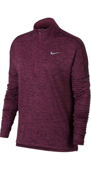 Nike Therma Sphere Element Hardloopshirt lange mouwen Dames rood
